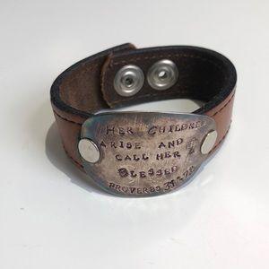 Jewelry - Leather bracelet.